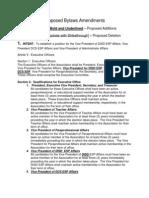 Proposed Bylaws Amendments 2013-2014