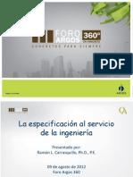Ramon Carrasquillo La Especificacion Al Servicio de La Ingenieria