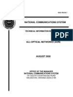 All Optical Networks (AON) - NCS_August2000