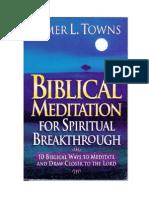 Elmer Towns - Biblical Meditation