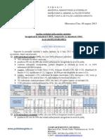 Analiza evoluţiei indicatorilor statistici înregistraţi în semestrul I 2013, comparativ cu semestrul I 2012, la nivelul IPJ HARGHITA