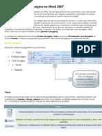 Configuraciones de página en Word 2007