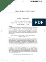 Murdo MacLeod. Nuevas perspectivas sobre la historia colonial de Centroamérica entre 1520 y 1720