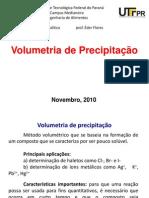 Volumetria de Precipitação-2010