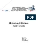 Historia Del Regimen Penitenciario