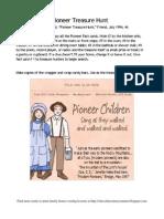 Pioneer Treasure Hunt