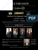 SAVE the DATE - OneAccord Fall Business Development Luncheon