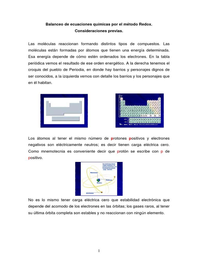 Balanceo de ecuaciones quimicas por el metodo redoxpdf urtaz Choice Image