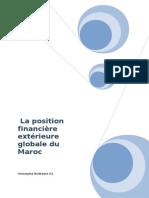 La position financière extérieure globale du Maroc