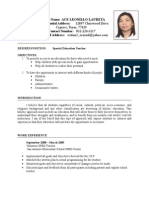 Ace Laureta-updated Resume 6-15-2009