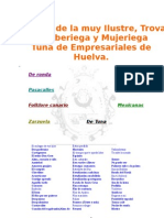 Cancionero de La Tuna de Em Pre Sari Ales de Huelva