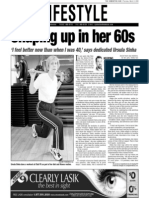 Ursula SInha, Keeping Fit, Sun Media (March 9, 2006)