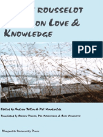 Pierre Rousselot, Andrew Tallon, Pol Vandevelde Essays on Love and Knowledge 2008