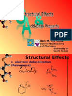 Structural  Effects and Acid-Base Property (ORG CHEM)