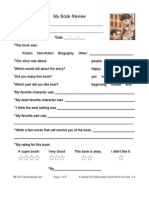 A Series of Unfortunate Events Book Review Form