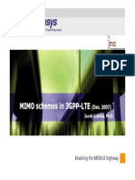 LTE MIMO Schemes