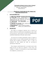 Plan de Actividades de La Parte Practica Del Trabajo de Inv. Ed.