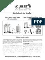 Aquasafe Home II + Re-mineralization Instructions