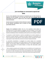 Boletin de Prensa Inscripciones Oferta