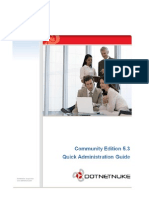 DotNetNuke CE 5.3 Quick Administration Guide
