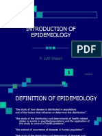Introduction of Epidemiology 2008