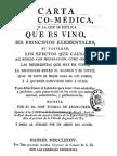CARTA FISICO-MEDICA EN LA QUE SE EXPLICA QUE ES VINO (1784)