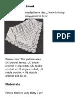 Free Crochet Pattern_ Gardenia Baby Shawl
