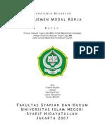 Manajemen Keuangan Modal Kerja