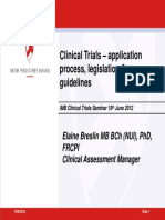 The Application Process Legislation Guidelines and the Protocol Template - Elaine Breslin