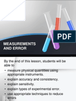 1.4 Measurements and Error