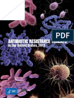 CDC Antibiotic Resistant Threats 2013 Report