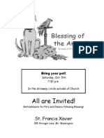 Blessing of the Animals Flyer