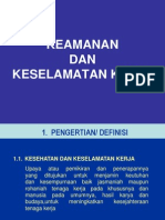 1. Keamanan Dan Keselamatan Kerja