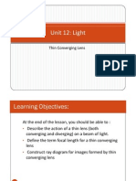 Unit 12 - Light IV - Lens Power Point