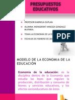 MODELO DE LA ECONOMIA DE LA EDUCACIÓN