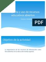 Búsqueda y uso de recursos educativos abiertos