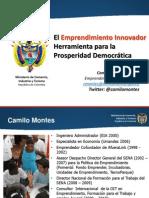 Presentación General Emprendimiento Camilo  montes abril 2011