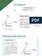 Multiplicação vetorial - alunos