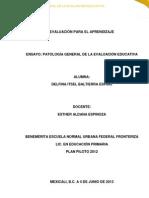 ENSAYO; PATOLOGIAS GENERALES DE LA EVALUACION.docx