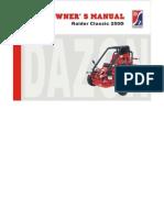 Dazon GK-2500D User Manual