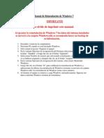 Manual de Reinstalacion