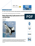 Modern Software Testing & Quality Assurance on the Fighter Planes