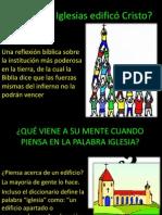 CUÁNTAS IGLESIAS EDIFICÓ CRISTO