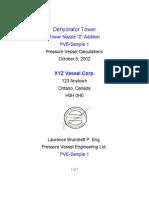 Pressure Vessel Calculations