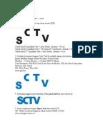 Cara Membuat Logo Sctv Dengan Corel Draw