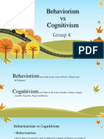 Behaviorism vs Cognitivism