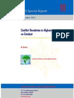 Conflict Resolution in Afganista, India as Catalyst