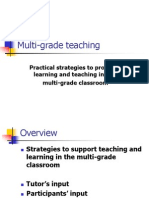 Multigrade Teaching