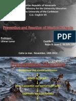 PRESENTACIÓN - PREVENTION & REACTION OF MARINE OIL SPILLS - AUTORIA PROPIA