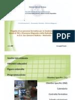 Arcangelo Panzica - Presentazione Progetto Formativo